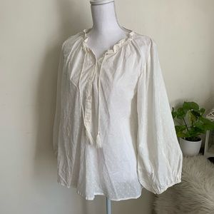 🌛Curation by Emerson fry🌛 white boho top